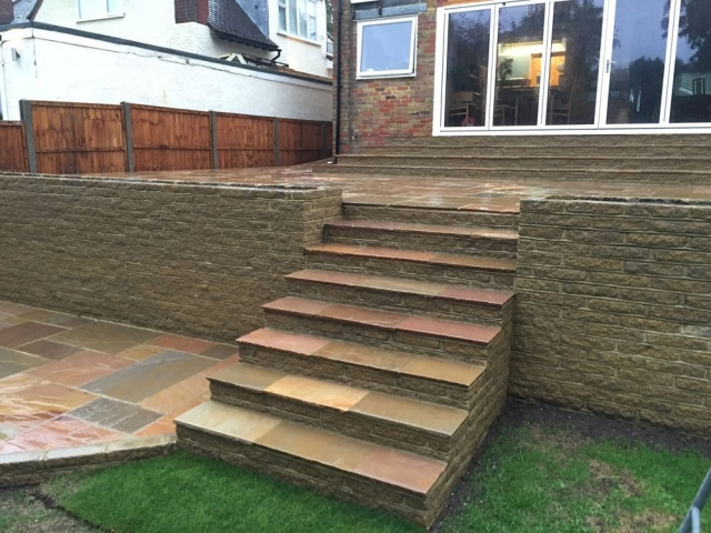 Premium Sandstone Paving Buff Brown
